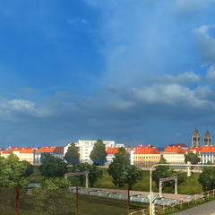 Look of the town centre from the east