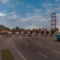 Tollbooths near Golden Gate Bridge.