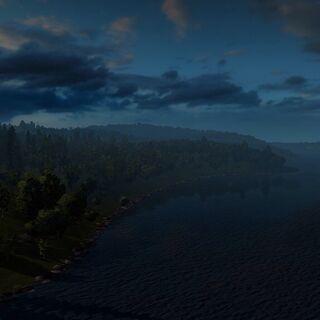 A Norwegian lake at dawn