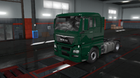 MAN TGX Euro 6 green