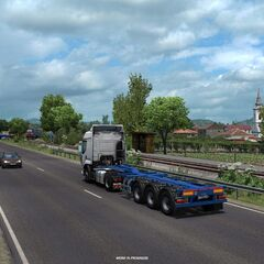 DN15 north of Târgu Mureș, Romania