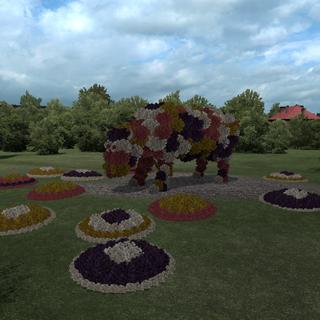 Flower cow