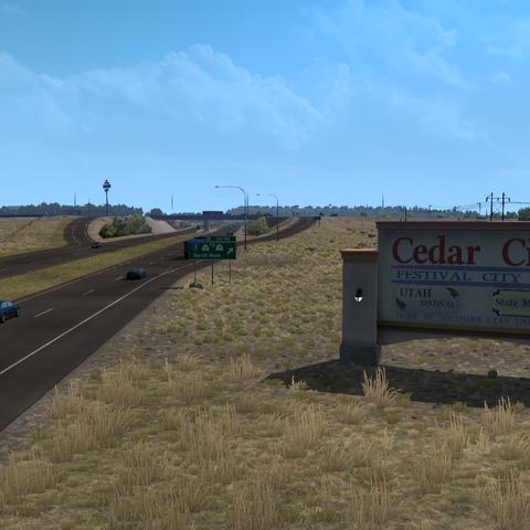Entrance sign of Cedar City