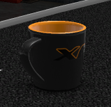 Daf items daf xf black orange mug