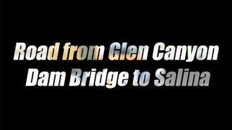 Utah Road from Glen Canyon Dam Bridge to Salina