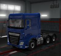 Daf xf euro 6 cobalt blue