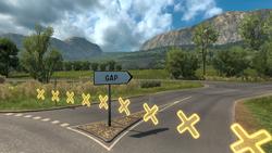 Gap entrance