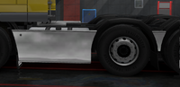 Daf xf 105 sideskirt basic chromed 6x2