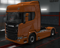 Scania R amber orange