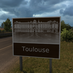 Toulouse sign at the A61 Autoroute