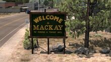 Welcome to Mackay sign