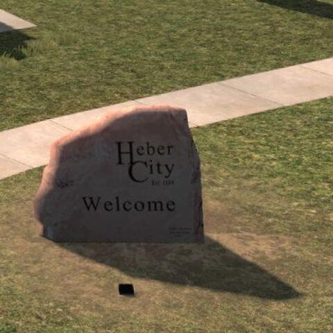 Heber City sign