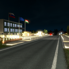 Border crossing with no border control in base game