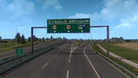 Romania A1 with with Hungary M43 sign in ETS2