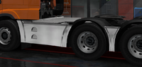 Daf xf euro 6 sideskirt basic chromed 6x2