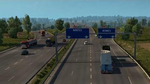 Euro Truck Simulator 2 - Le Mans - Rennes Round Trip