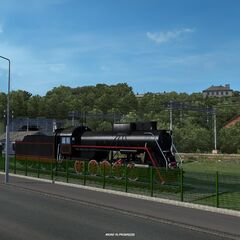 Old locomotive in <a href=