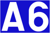 Luxemburg A6 Sign