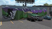 Logan Joyride Bike mural