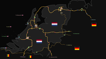 Map of Netherlands in ETS 2