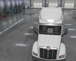Peterbilt 579 Exclusive Chrome Sunshield