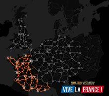 Vive la France map