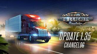 Changelog for ATS Update 1.35