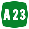 Italy A23 shield