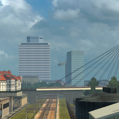 Left: BASF-Tower, Right: MVV Tower
