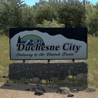 Duchesne City Welcome Sign