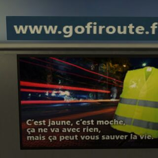 This billboard can be seen in every French toll gate.