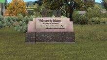 Welcome to Salmon sign