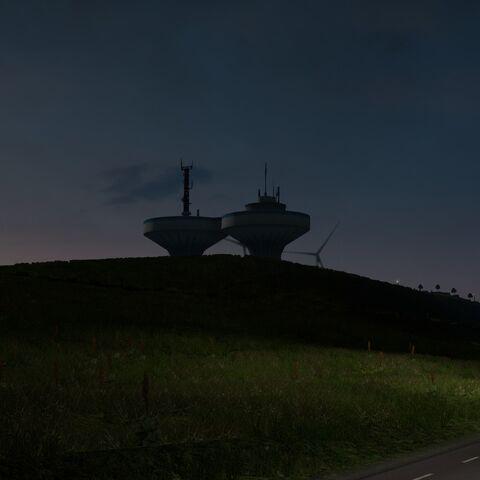 Twin Water Towers in Ystad
