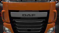 Daf xf euro 6 front badge plate stock