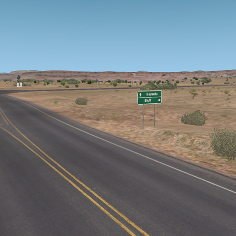 Mexican Water Bluff Interchange looking West towards Kayenta