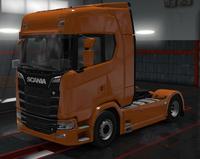 Scania S amber orange