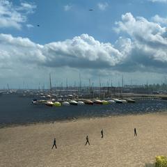 Beach nearby the port