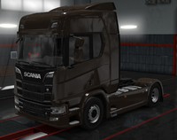 Scania R coffe brown