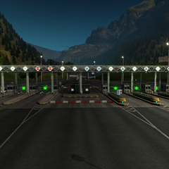 Toll gate in Austria