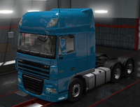 Daf xf 105 celestial blue
