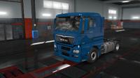 MAN TGX Euro 6 blue