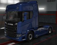 Scania R blue ocean metallic