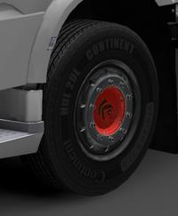 Daf xf euro 6 front wheels sirius