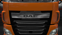 Daf xf euro 6 front badge plate chrome