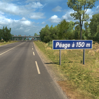 Minor road Péage sign