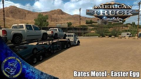 American Truck Simulator- Stopping at the Bates Motel (Easter Egg)