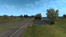 Kaunas entrance sign