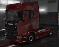 Scania S cardinal red metallic