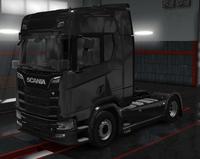Scania S pure black metallic
