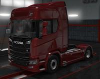 Scania R cardinal red metallic